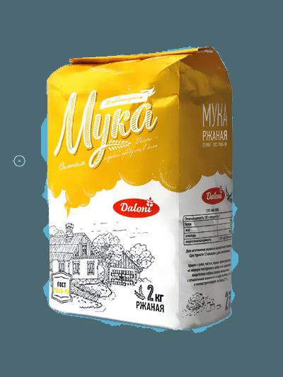 Мука ржаная Daloni хлебопекарная сеяная ГОСТ 7045-90