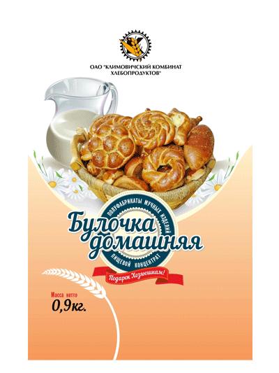 """П/ф мучных изделий Пищевой концентрат """"Булочка домашняя"""" СТБ 954-94"""