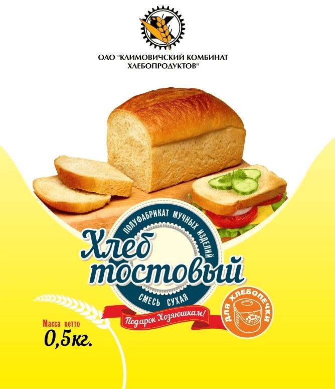 """П/ф мучных изделий Смесь сухая """"Хлеб тостовый для хлебопечки"""" СТБ 954-94"""
